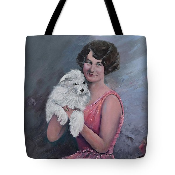 Maggie And Caruso -portrait Of A Flapper Girl Tote Bag