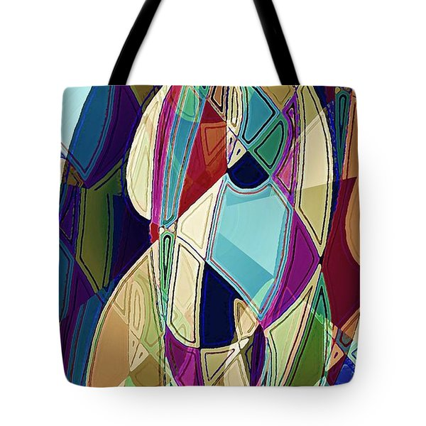 Tote Bag featuring the digital art Portrait Of A Friend by David Manlove
