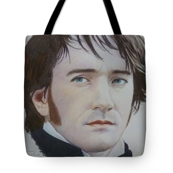 Tote Bag featuring the mixed media Portrait Of A Gentleman by Constance DRESCHER