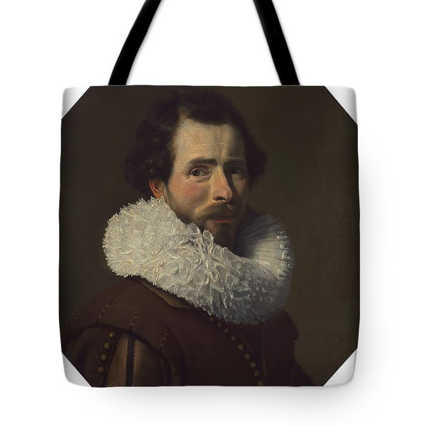 Portrait Of A Gentleman Wearing A Fancy Ruff Tote Bag
