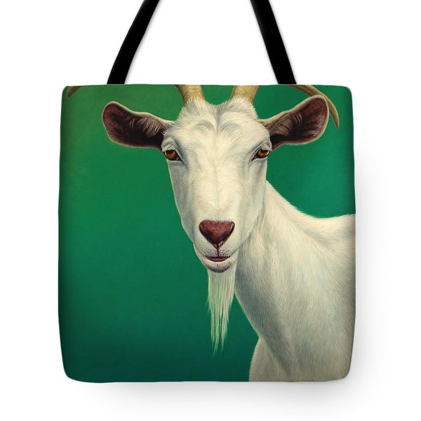 Portrait Of A Goat Tote Bag by James W Johnson
