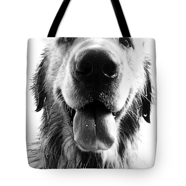 Portrait Of A Happy Dog Tote Bag