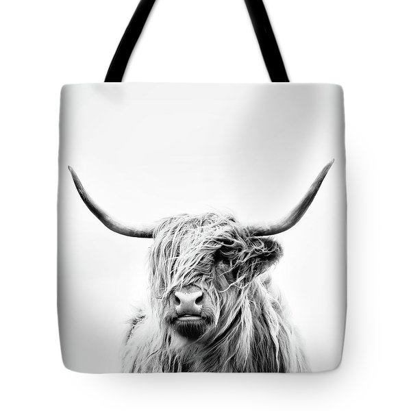 Portrait Of A Highland Cow - Vertical Orientation Tote Bag