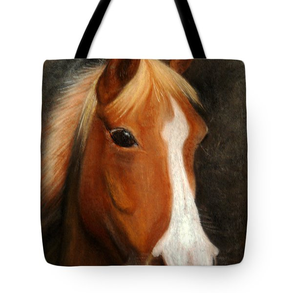 Portrait Of A Horse Tote Bag by Jasna Dragun