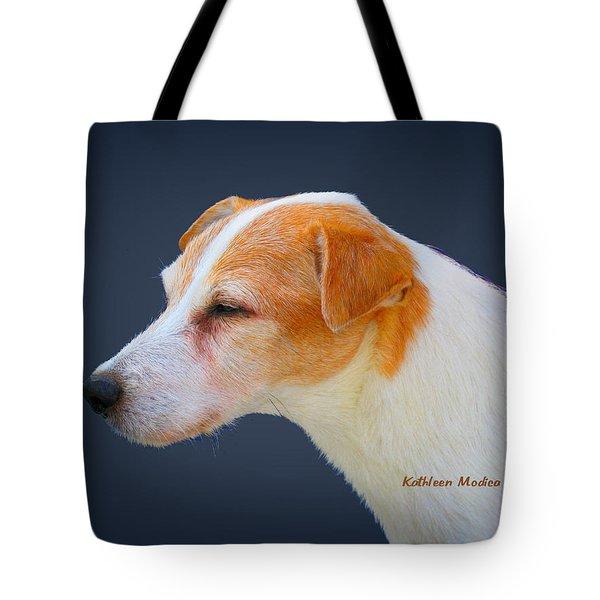 Portrait Of A Jack Russel Tote Bag