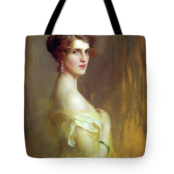 Portrait Of A Lady In Yellow Tote Bag