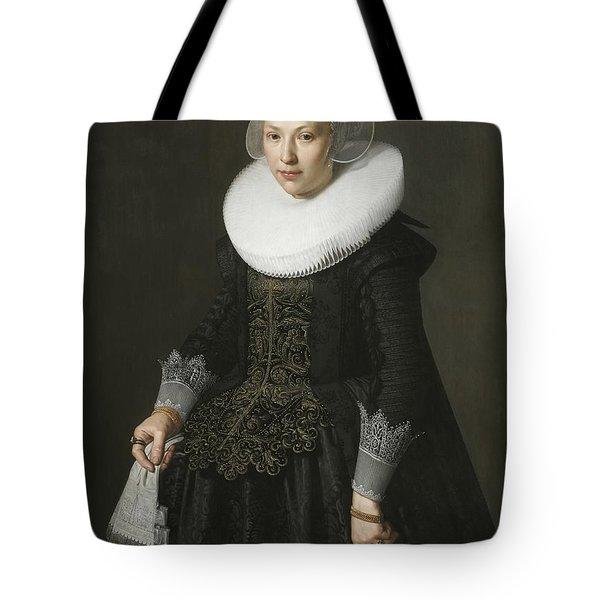 Portrait Of A Lady Tote Bag by Nicolaes Eliasz