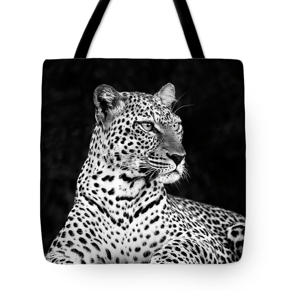 Portrait Of A Leopard Tote Bag by Richard Garvey-Williams