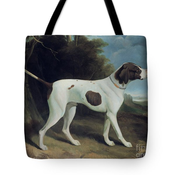 Portrait Of A Liver And White Pointer Tote Bag