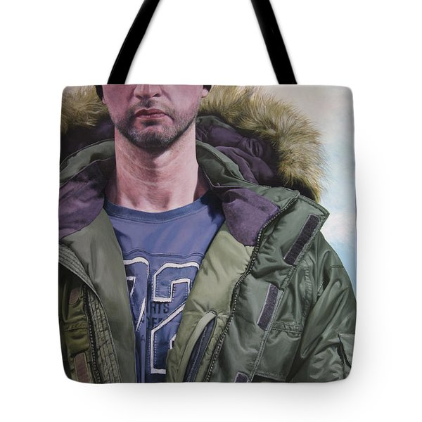 Portrait Of A Mountain Walker. Tote Bag by Harry Robertson