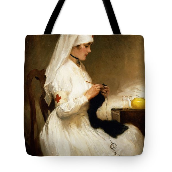 Portrait Of A Nurse From The Red Cross Tote Bag