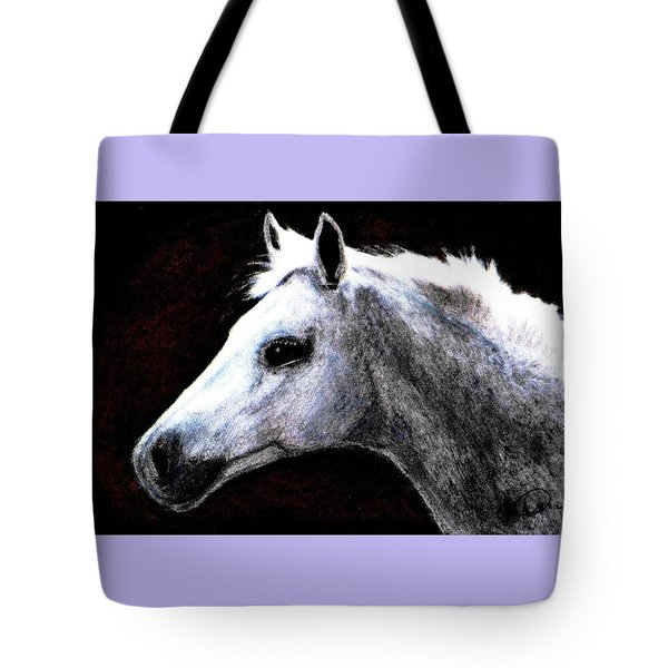 Portrait Of A Pale Horse Tote Bag by Angela Davies