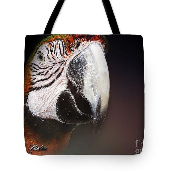 Portrait Of A Parrot Tote Bag