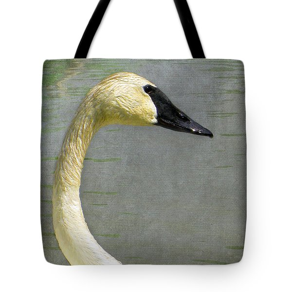 Portrait Of A Pond Swan Tote Bag