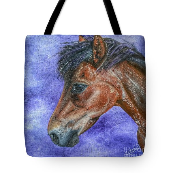 Portrait Of A Pony Tote Bag