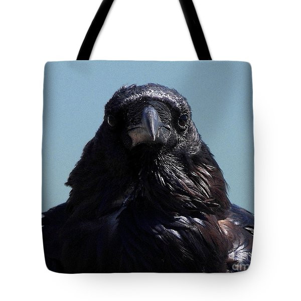 Portrait Of A Raven Tote Bag