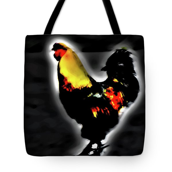 Portrait Of A Rooster Tote Bag