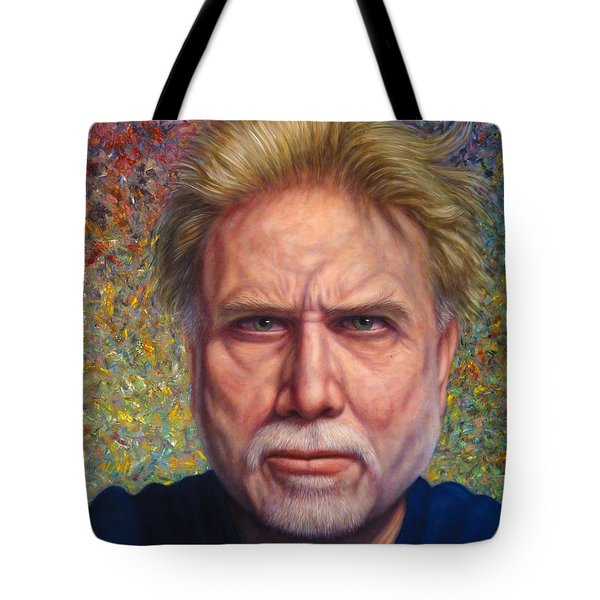 Portrait Of A Serious Artist Tote Bag by James W Johnson
