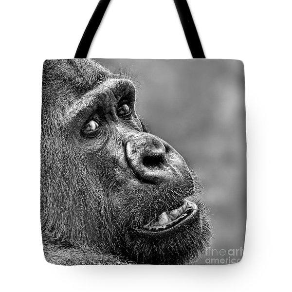 Portrait Of A Silverback Tote Bag by Jim Fitzpatrick