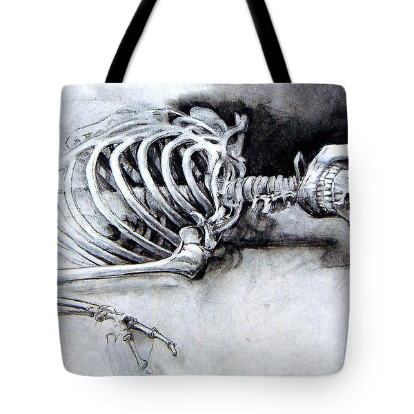 Portrait Of A Skeleton Tote Bag