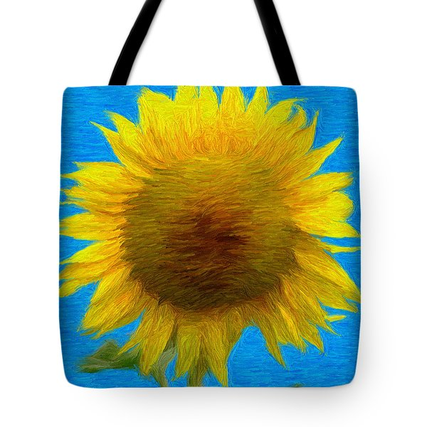 Portrait Of A Sunflower Tote Bag