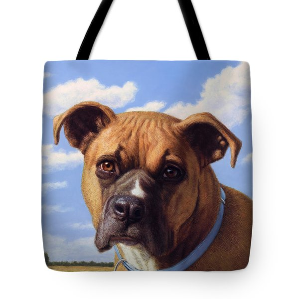 Portrait Of A Sweet Boxer Tote Bag