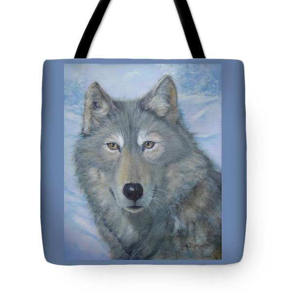 Portrait Of A Wolf Tote Bag