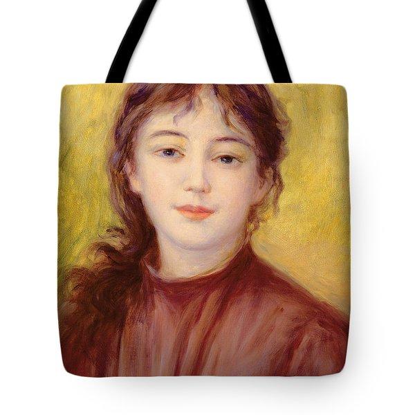 Portrait Of A Woman Tote Bag by Pierre Auguste Renoir