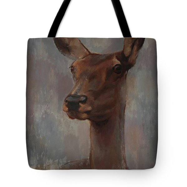 Portrait Of A Young Doe Tote Bag