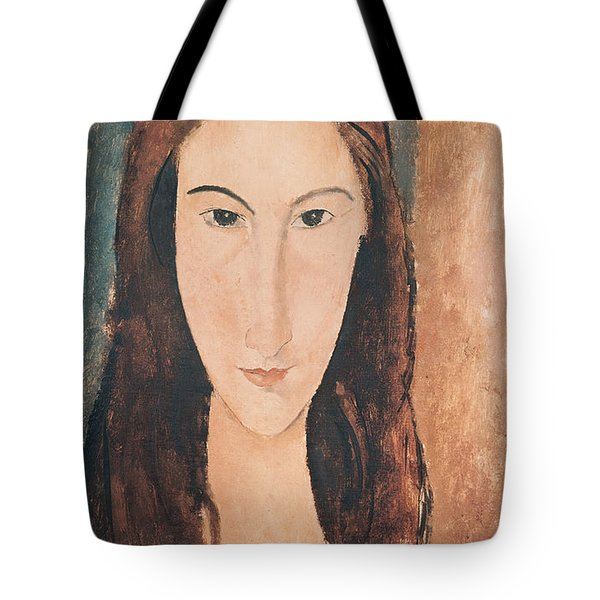 Portrait Of A Young Girl Tote Bag by Amedeo Modigliani