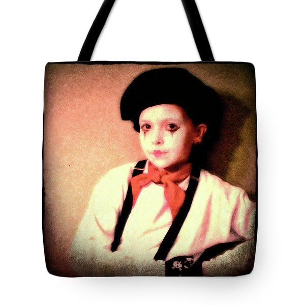 Portrait Of A Young Mime Tote Bag