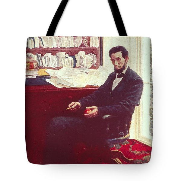 Portrait Of Abraham Lincoln Tote Bag by Howard Pyle