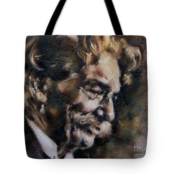 Portrait Of Albert Schweitzer Tote Bag