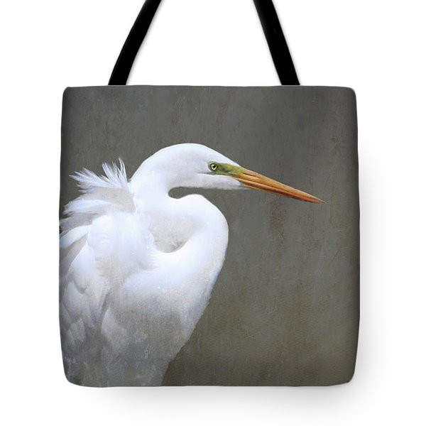Portrait Of An Egret Tote Bag