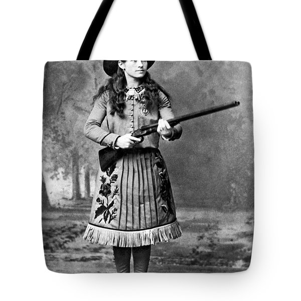 Portrait Of Annie Oakley Tote Bag