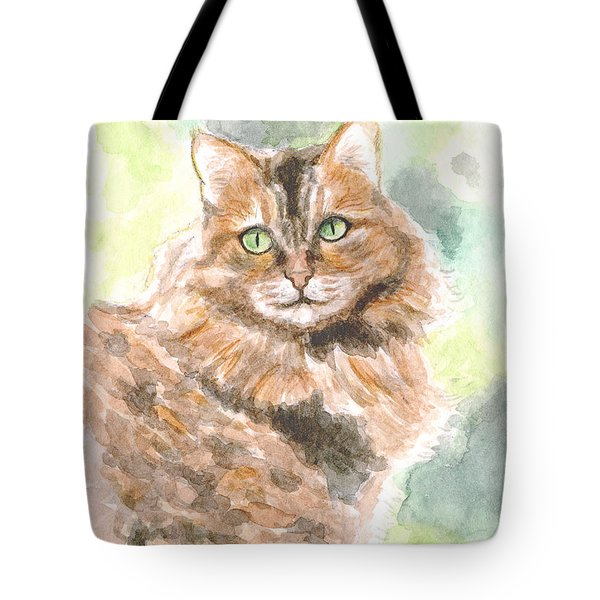 Portrait Of Cat. Tote Bag