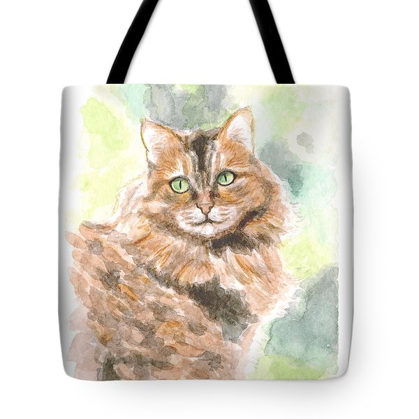 Portrait Of Cat. Tote Bag