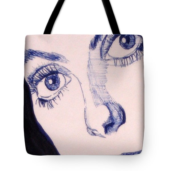 Portrait Of Catherine Close Up Details Tote Bag