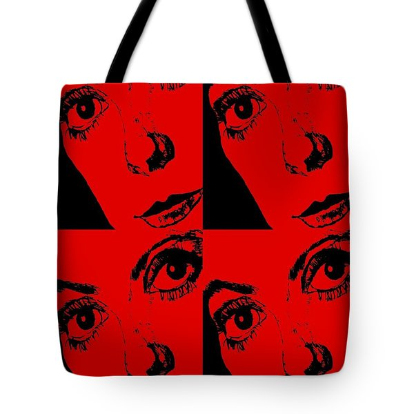 Portrait Of Catherine Pop Art Design Tote Bag
