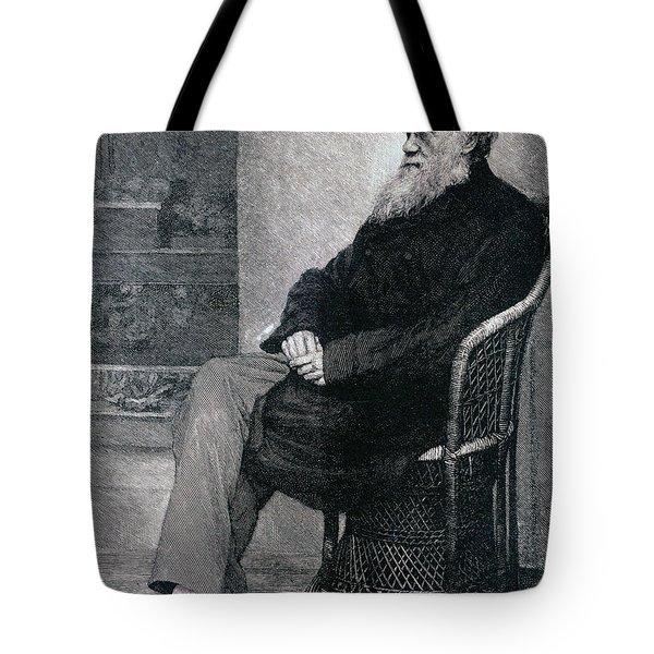 Portrait Of Charles Darwin Tote Bag