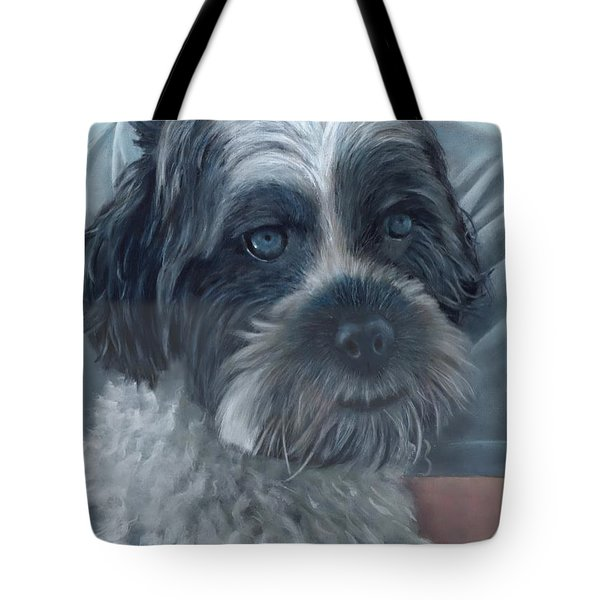 Tote Bag featuring the painting Portrait Of Charley by John Neeve