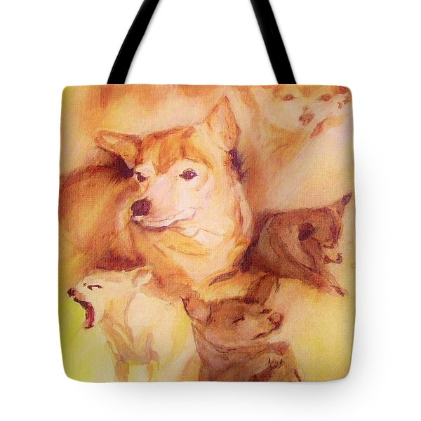 Portrait Of Chi Chi Tote Bag by Denise Fulmer