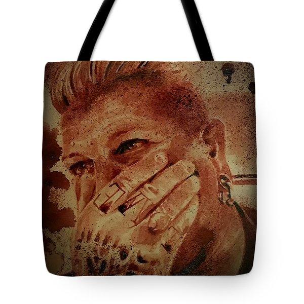 Portrait Of Chris Kross Tote Bag