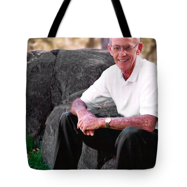 Portrait Of Dad Tote Bag