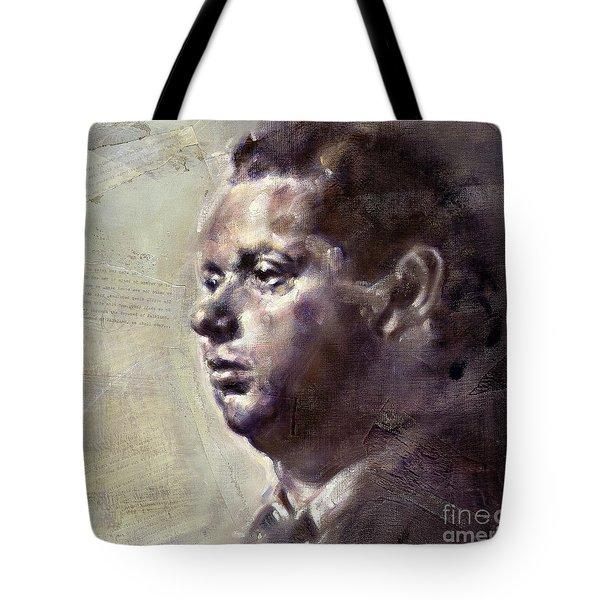 Portrait Of Dylan Thomas Tote Bag