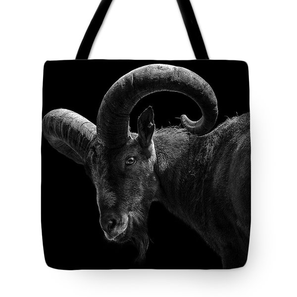 Portrait Of East Caucasian Tur In Black And White  Tote Bag
