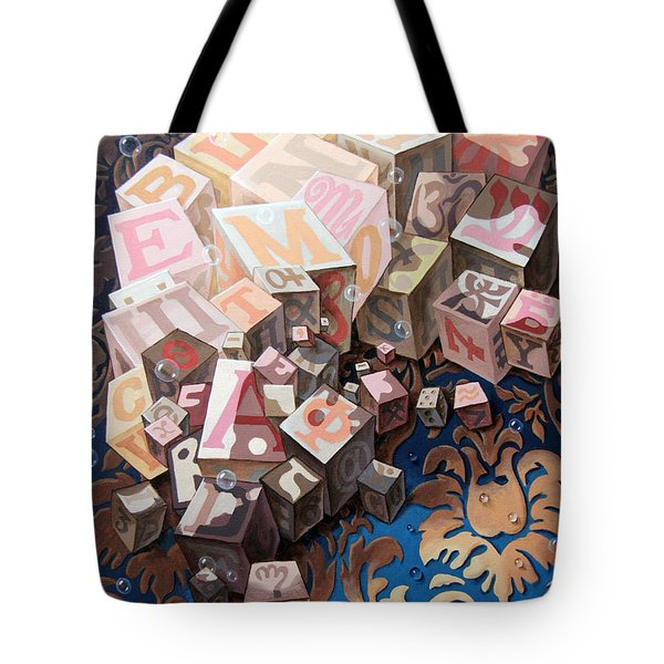 Portrait Of Einstein. Cubes  Tote Bag