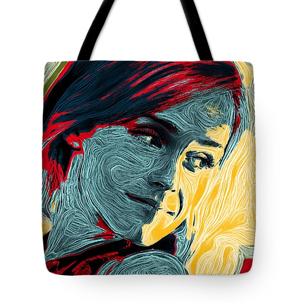 Portrait Of Emma Watson Tote Bag