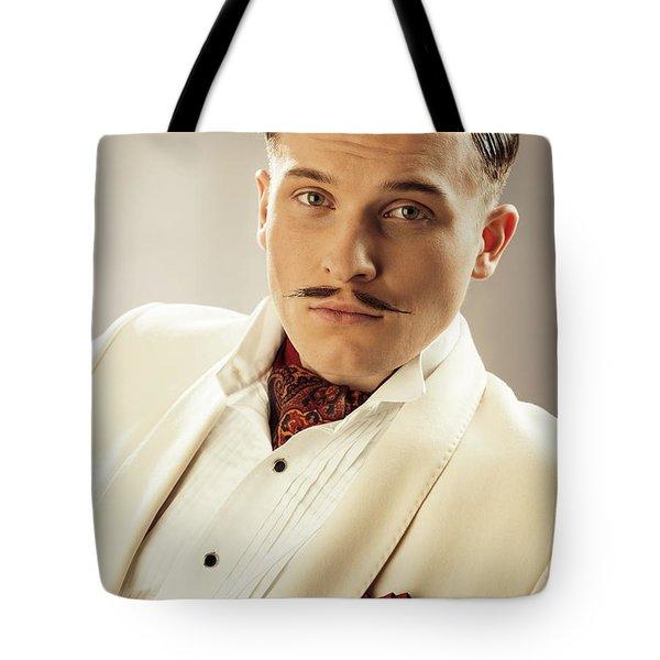 Portrait Of Errol Flynn Character Tote Bag