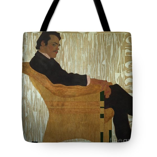 Portrait Of Hans Massmann Tote Bag by Egon Schiele